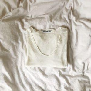 Zara textured crop top